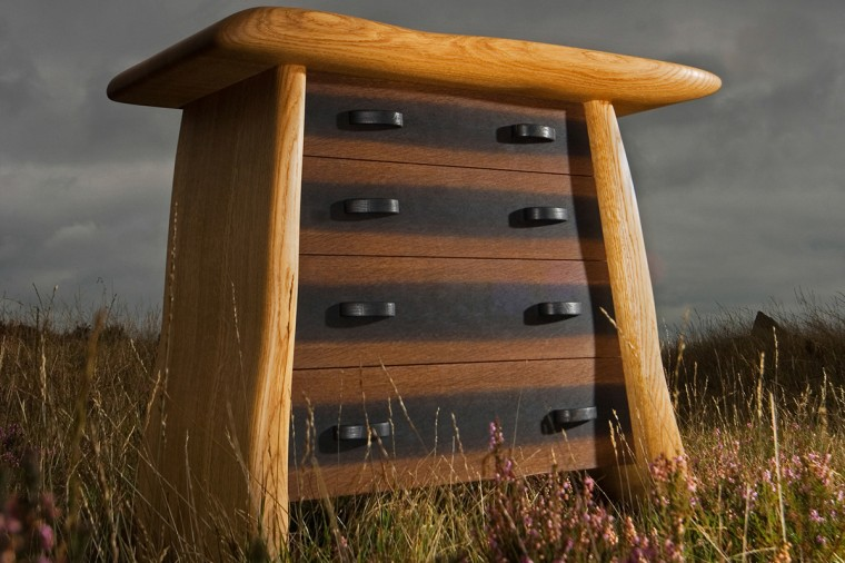 Penwith drawer chest by Samuel F Walsh. Bespoke furniture made in Cornwall. Furniture inspired by landscape and culture
