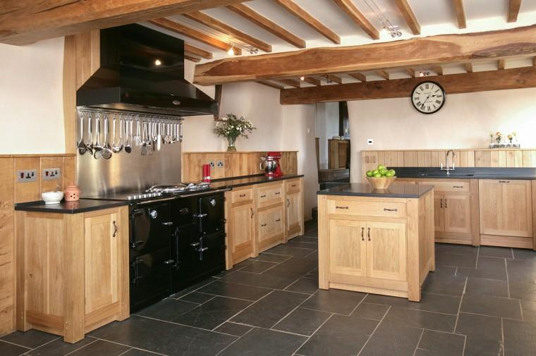 Solid Oak free standing bespoke kitchen cornwall