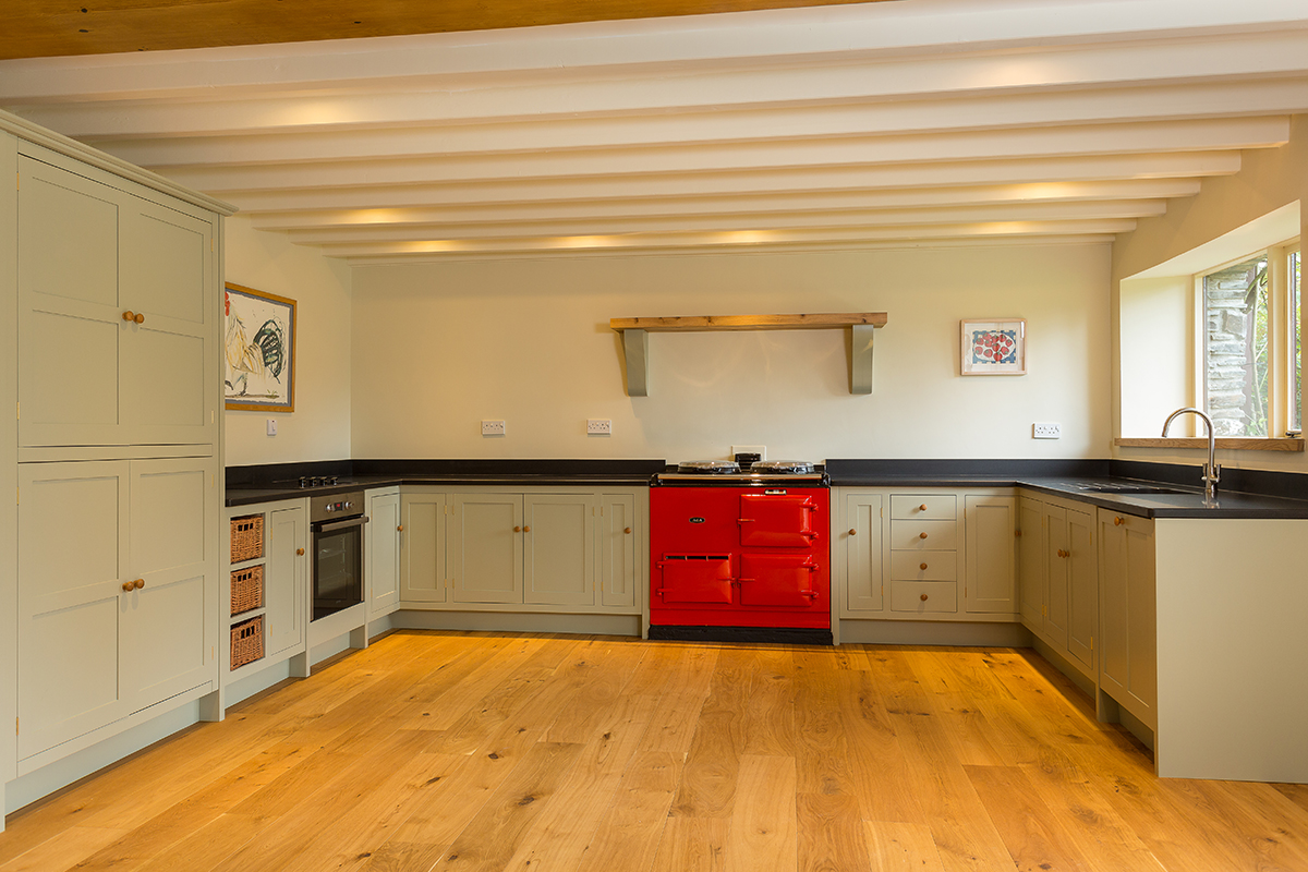Shaker Style Kitchen Converted Mill Cornwall Bespoke