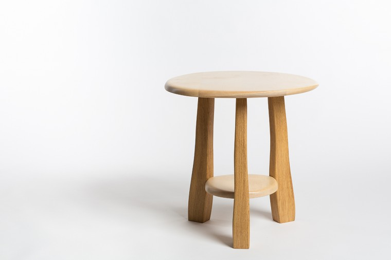 Bodmin Moor side table, Oak and Sycamore, Made in West Cornwall