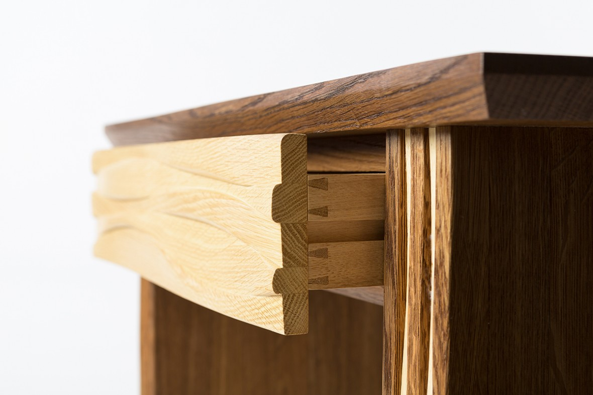 bespoke furniture cornwall, Hartland console table, Solid Oak