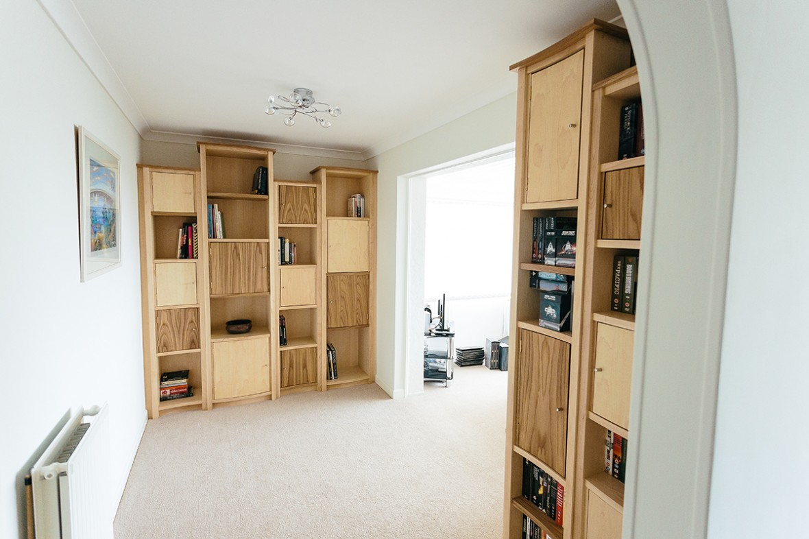built in maple and oak shelves shelving cornwall samuel f walsh rh samwalshfurniture co uk sliding shelves for cupboards wire shelves for inside cupboards