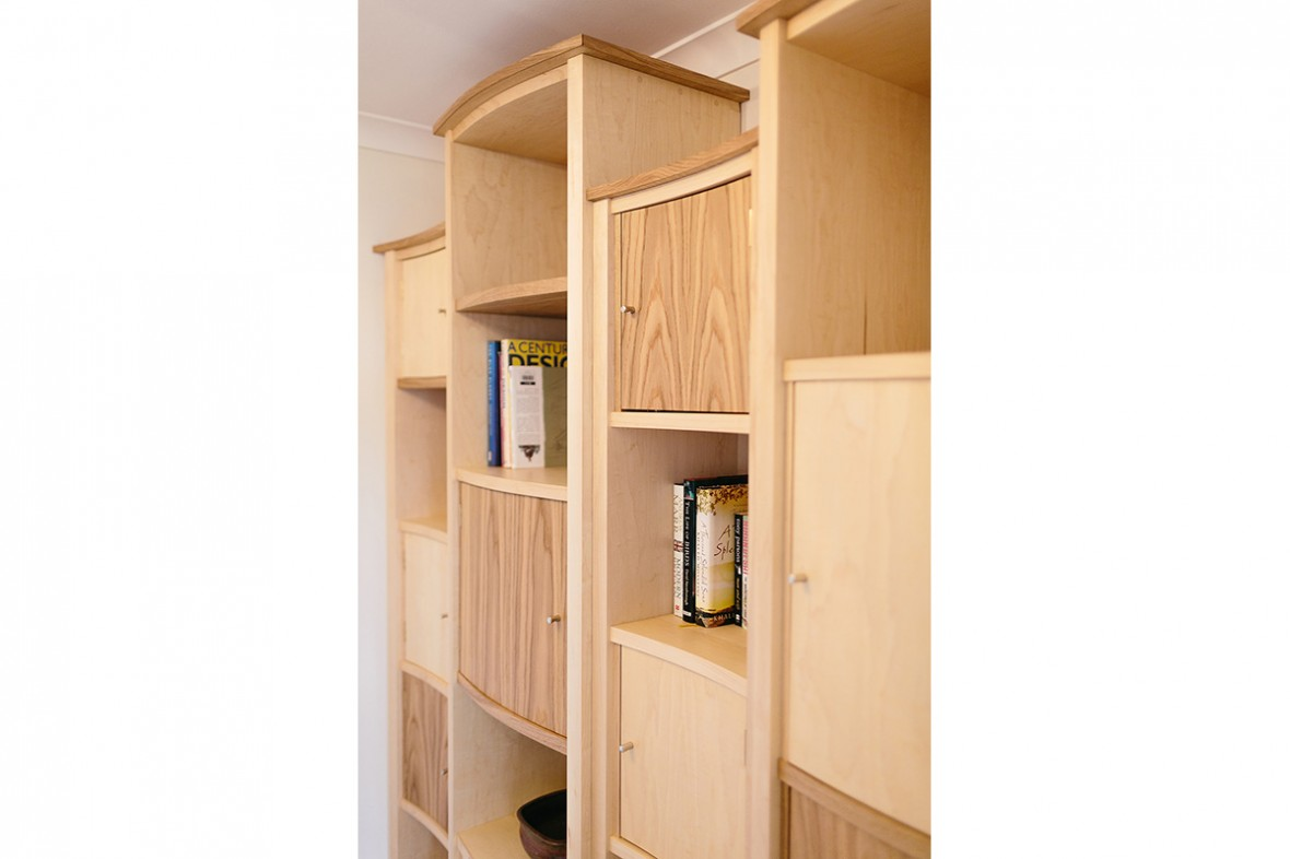 Maple and Oak bespoke shelving. Hand-crafted and made to measure Portreath West-Cornwall