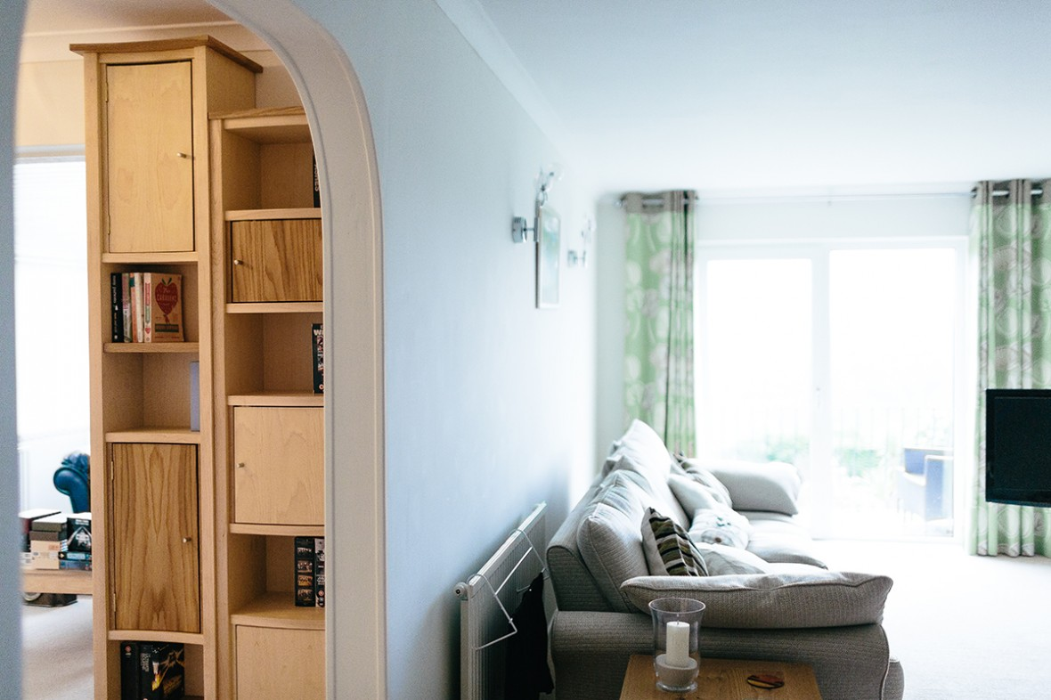 Maple and Oak bespoke shelving. Hand crafted and made to measure. Redruth, West Cornwall