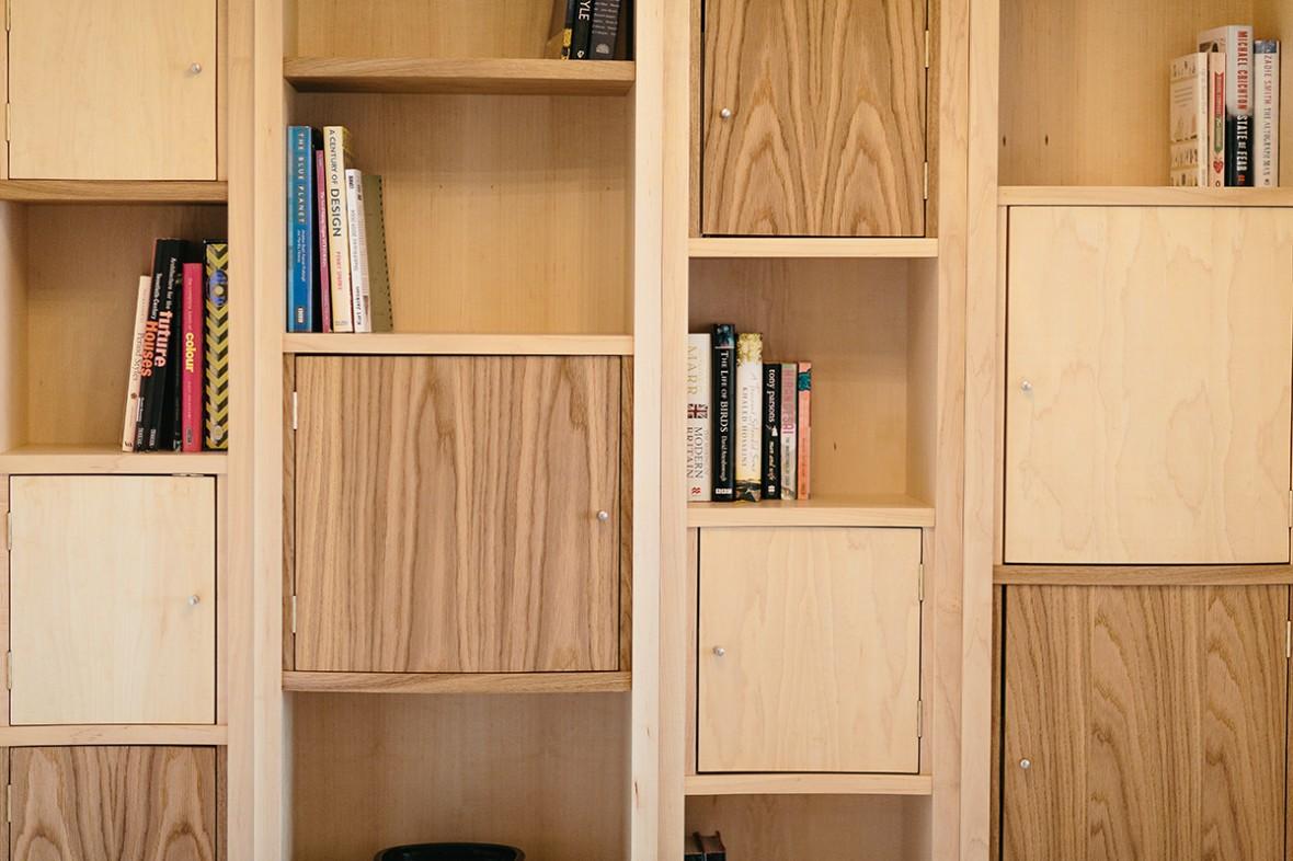 Built In Maple And Oak Shelves Shelving Cornwall Samuel