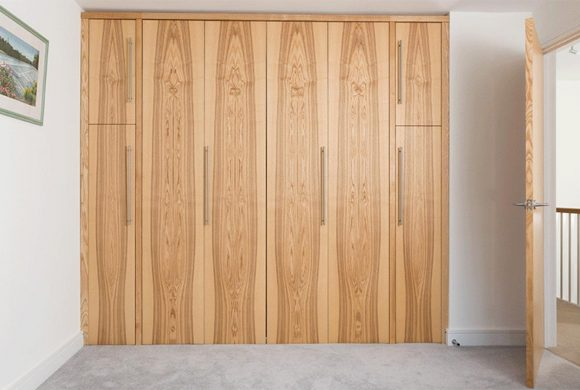 Fitted Wardrobe with Foldaway Bed in Olive Ash