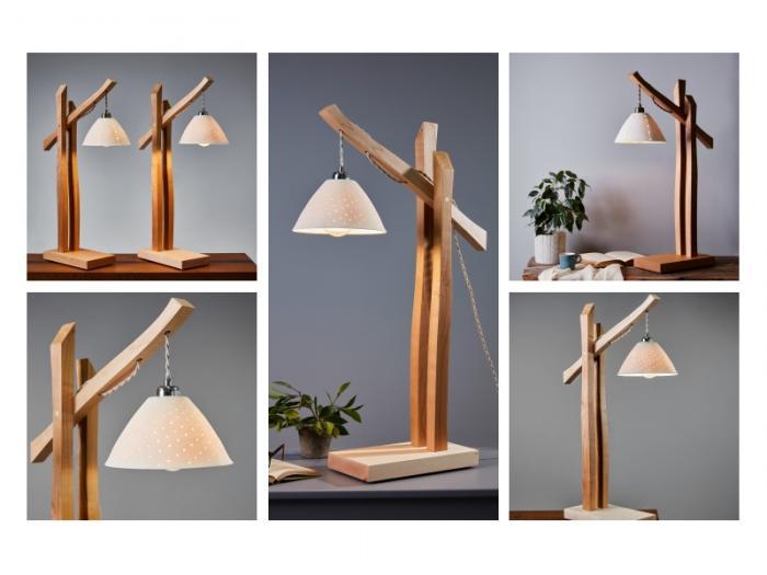 Bespoke wooden lamps