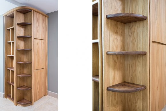 Bespoke oak shelving