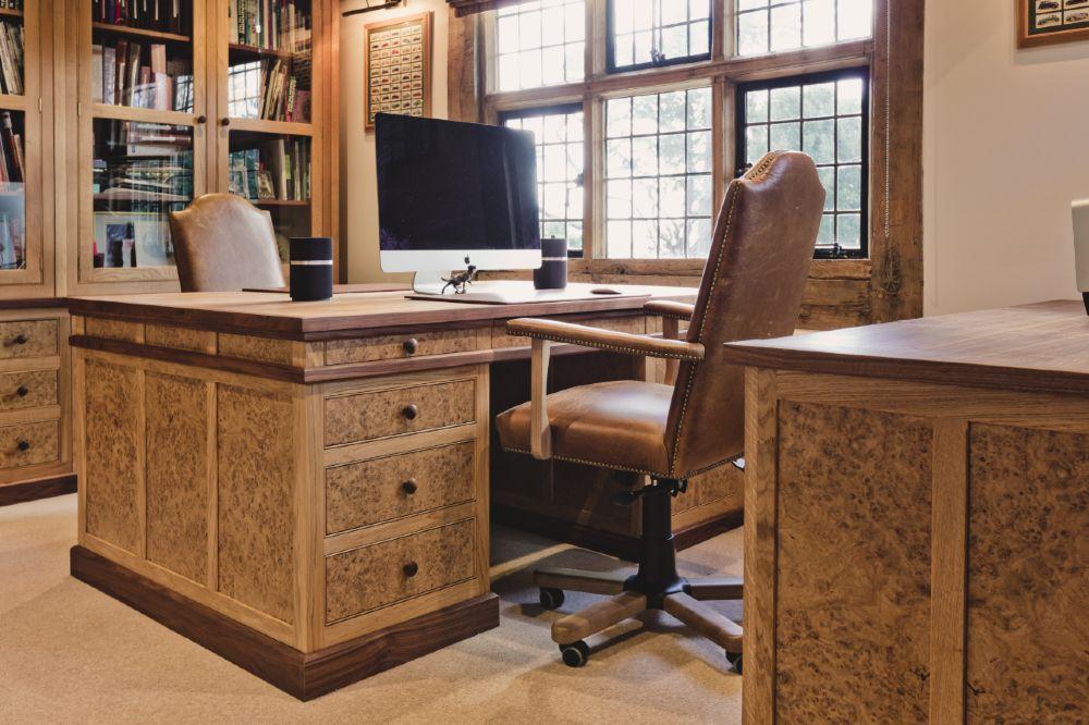 Bespoke Office Oak Furniture Made in Cornwall