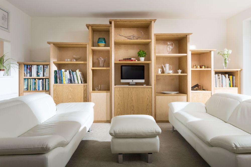 Oak and Maple media display shelves cornwall