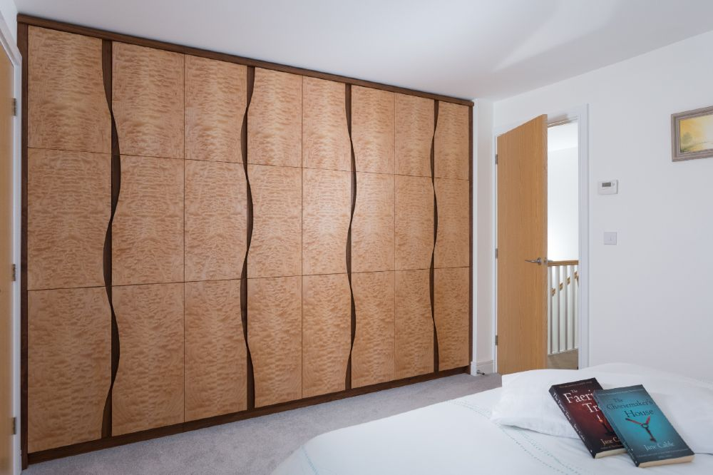 Quilted Maple Wardrobe Made in Cornwall